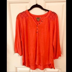 Lucky Brand Lace Shoulder Top